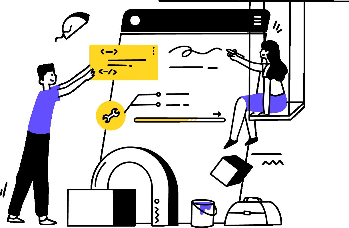 Mobile App Illustration